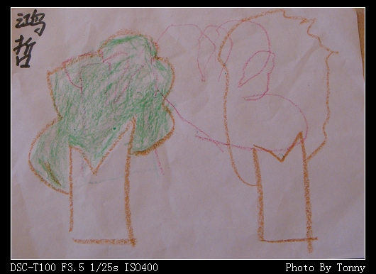 树叶贴画圣诞树作品